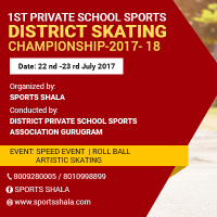 1st private school sports district skating championship 2017-18's cover