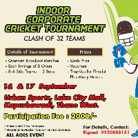 Indoor Corporate Cricket Tournament's profile